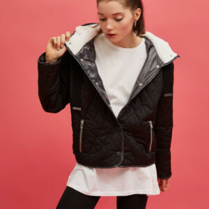 Faux Fur Detailed Quilted Jacket